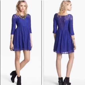 FREE PEOPLE Lace Long Sleeve Shake It Up L 51F